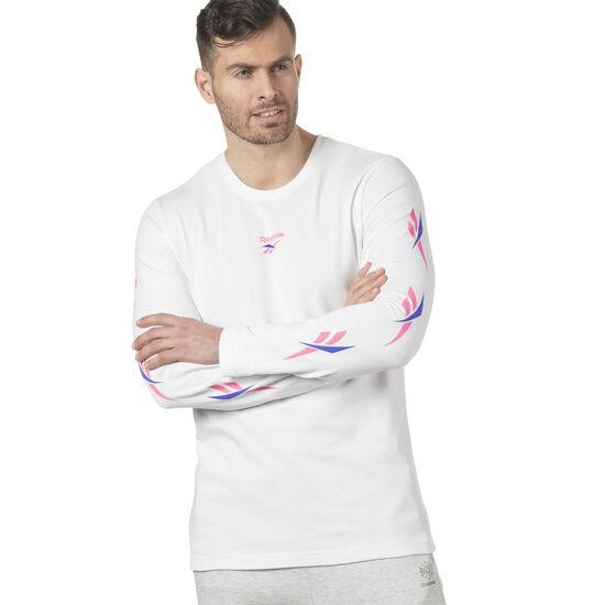 Reebok - LF Long Sleeve Print T-Shirt White DN9806