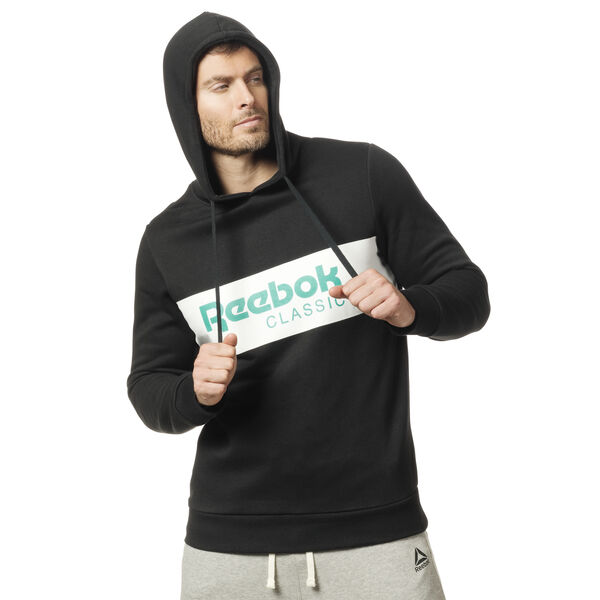 Classics R Unisex 'Over the Head' Hoodie Black DX0146