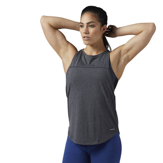 Reebok - cotton Muscle Tank Dark Grey Heather BQ9424