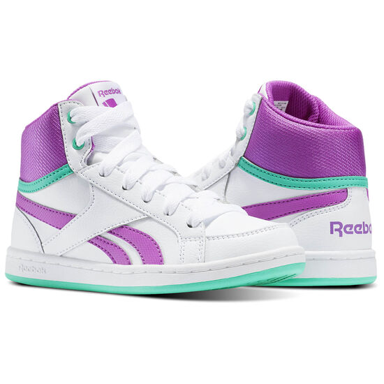 Reebok - Reebok Royal Prime Mid White/Vicious Violet/Bright Emerald BS7330