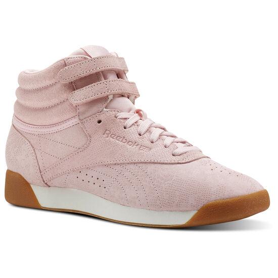 Reebok - Freestyle Hi Exotics-Practical Pink/Chalk CN3822