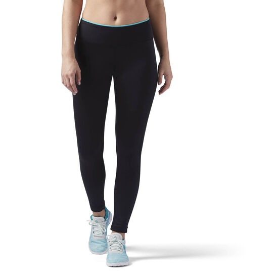 Reebok - Workout Ready Leggings Black/Solid Teal CE1238