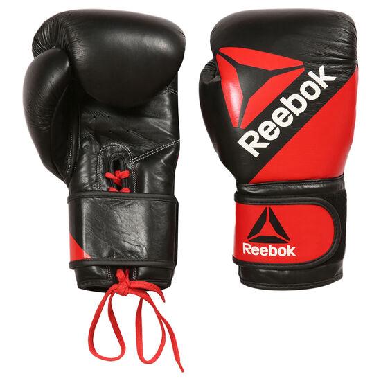 Reebok - Leather Training Glove 16oz Multicolor/Reebok Red/Black BG9380