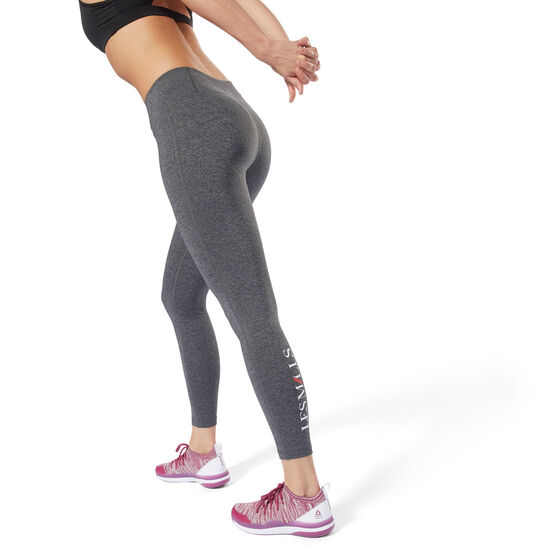 Reebok - LES MILLS™ 7/8 Tights Dark Grey Heather DJ2188