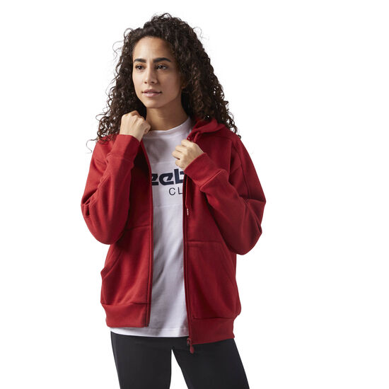 Reebok - Fleece Zip Up Hoodie Rich Magma CD8217