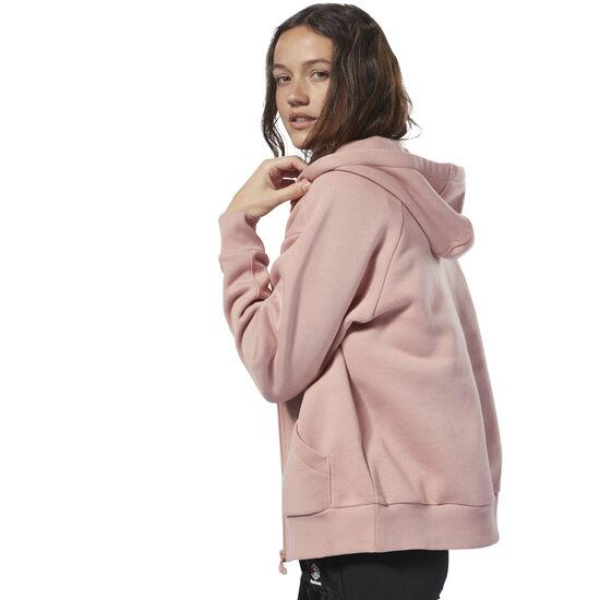 Reebok - Fleece Zip Up Hoodie Chalk Pink / Chalk Pink DH1377