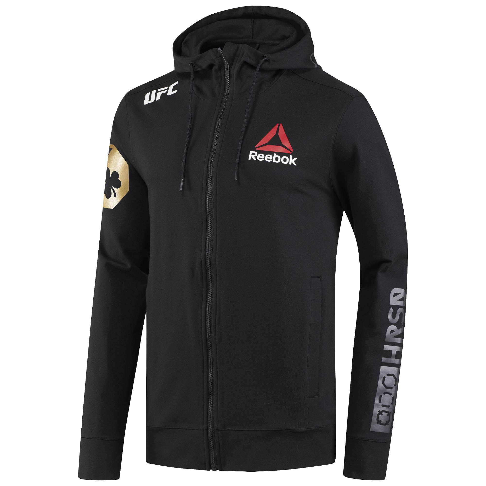 Reebok - UFC Fight Night McGregor Walkout Hoodie Black/UFC Gold CF0321