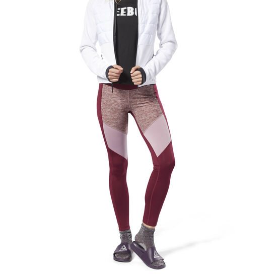 Reebok - Mélange Tights Rustic Wine DH2019
