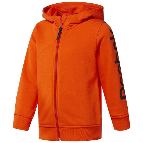 Reebok - Boy's Reebok Full Zip Hoodie Orange/Bright Lava CF4277
