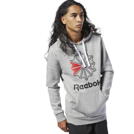 Reebok - Reebok Classics Big Logo Hoodie Medium Grey Heather / Black DH2074
