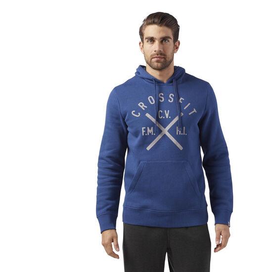 Reebok - Reebok CrossFit Heritage Hoodie Washed Blue CF4552