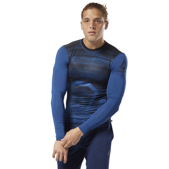 Reebok - ACTIVCHILL Long Sleeve Compression Tee Bunker Blue D93760