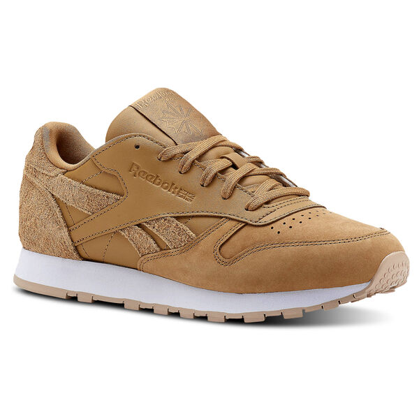 Classic Leather Prm-Soft Camel/Bare Beige/White CN2962