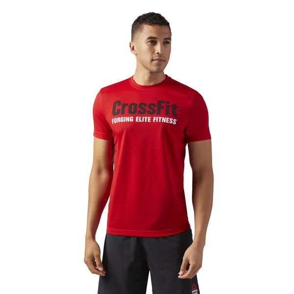 Reebok CrossFit Speedwick F.E.F. Graphic Tee Red CF4549