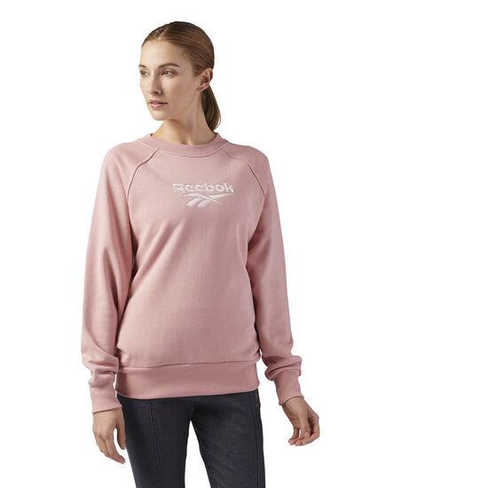 Reebok - Cotton Cover-Up Sweatshirt Chalk Pink CF3949