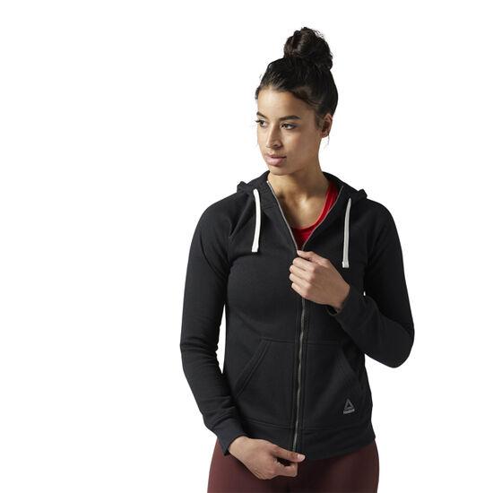 Reebok - Training Essentials Fleece Full Zip Hoodie Black BS4115