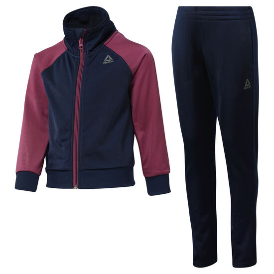 Reebok - Girls' Workout Ready Tricot Tracksuit Collegiate Navy / Twisted Berry DH4331