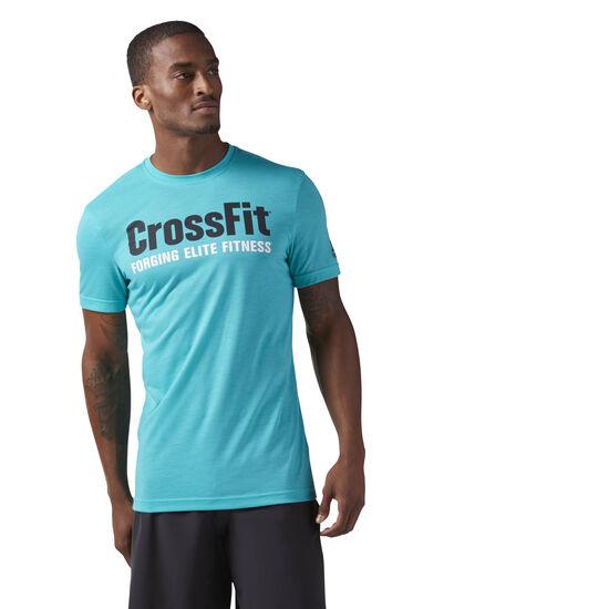 Reebok - Reebok CrossFit Speedwick F.E.F. Graphic Tee Turquoise/Solid Teal CF4548