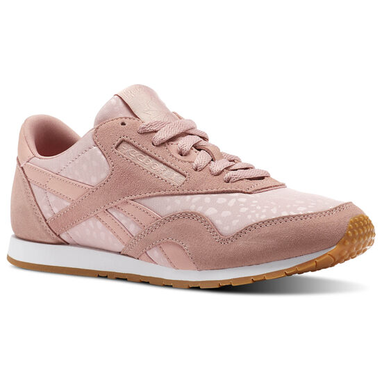 Reebok - Classic Nylon Slim Text Lux Chalk Pink/White/Gum BS9447
