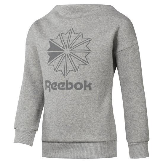 Reebok - Girls' Classics Crew Medium Grey Heather DH3232