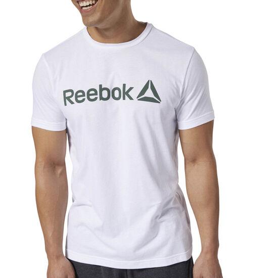 Reebok - Reebok Linear Read Tee White / Chalk Green DH3790