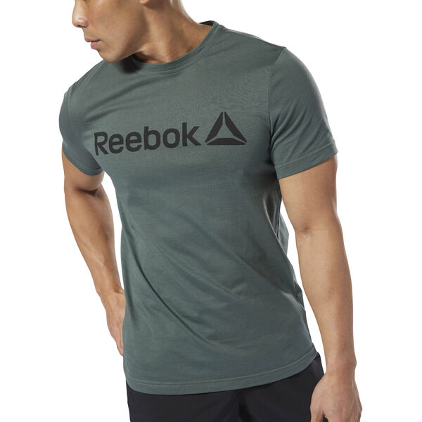 Reebok Linear Read Tee Green DH3787