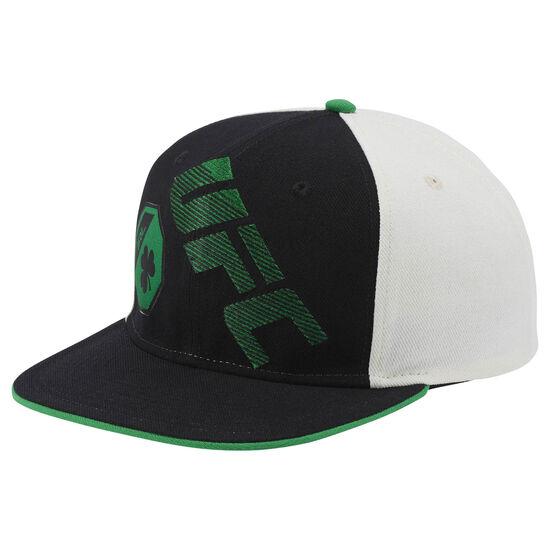 Reebok - UFC Ultimate Fan Flat Brim Snapback Hat Black/White/Green BE6323