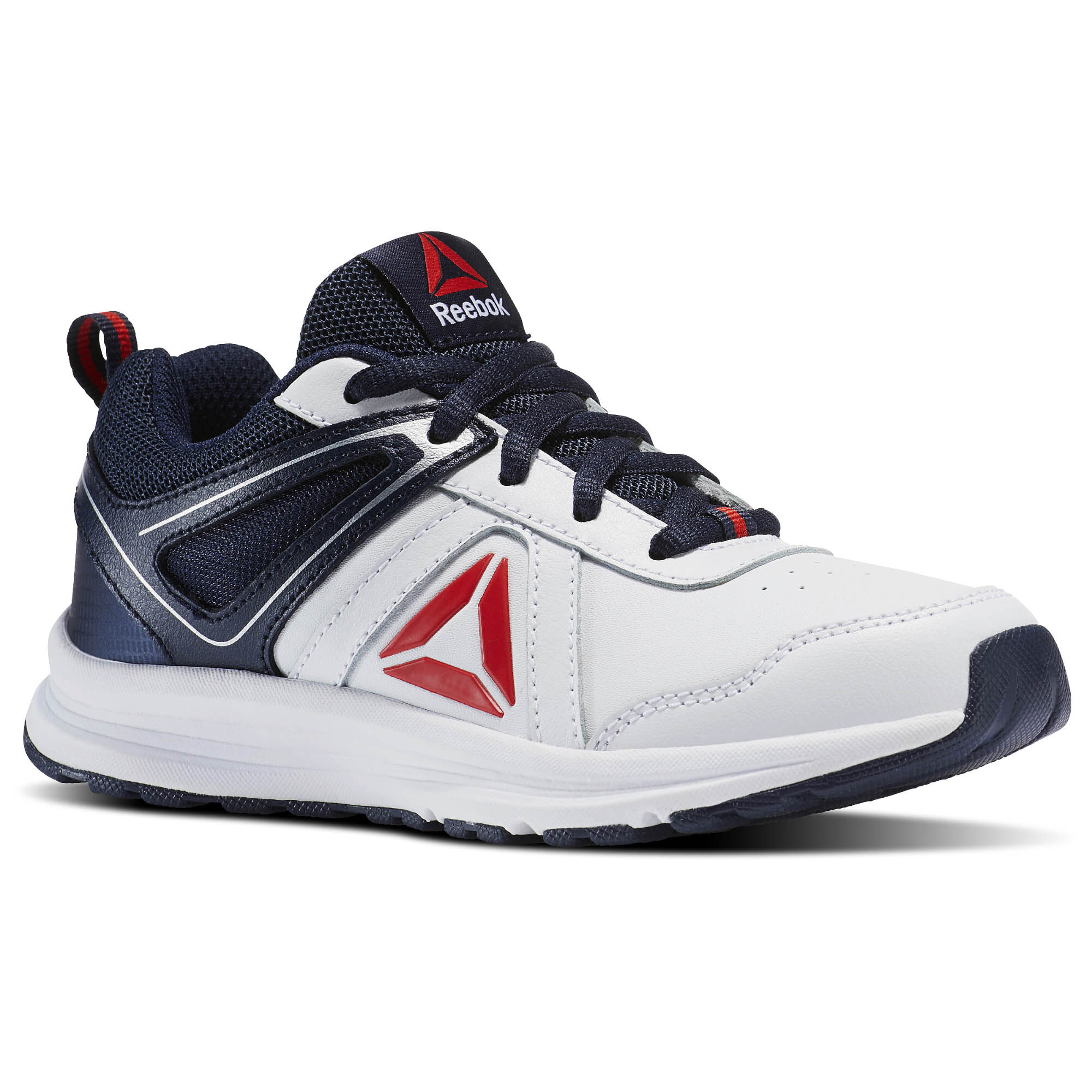Reebok - Almotio 3.0 - Nursery School White/Collegiate Navy/Primal Red  BS7556