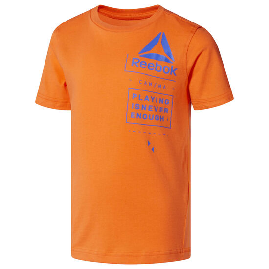 Reebok - Boy's Tee and Shorts Set Bright Lava CF4287