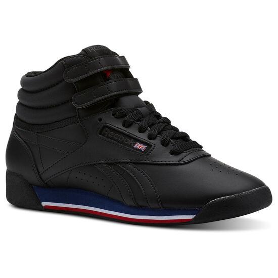 Reebok - Freestyle Hi Retro-Black/White/Bunker Blue/Primal Red/Coal CN2963