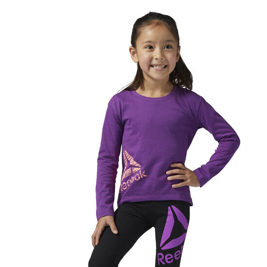 Reebok - Girls Essentials Long Sleeve Shirt Aubergine BS1512
