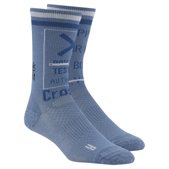 Reebok - Reebok CrossFit Women's Printed Crew Socks Blue Slate CZ9891