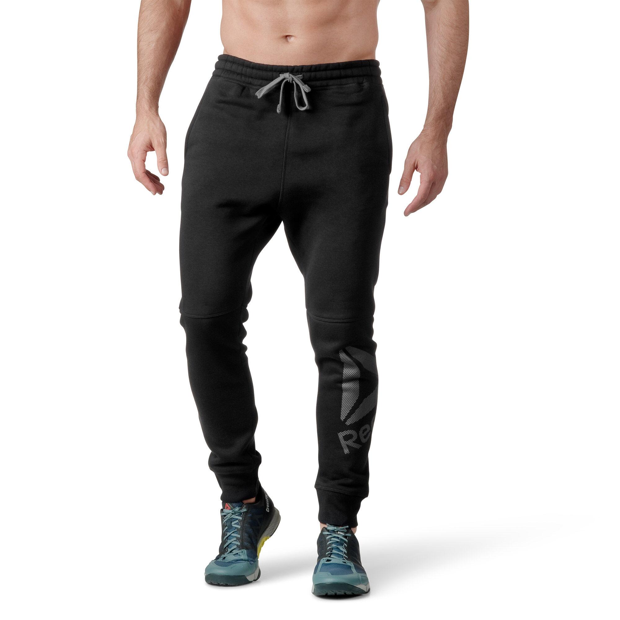 Reebok - Workout Ready Big Logo Cotton Pant Black B49898