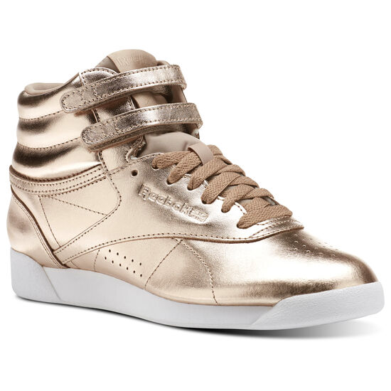 Reebok - Freestyle Hi Metallic Rose Gold/White/Silver Peony CN0573