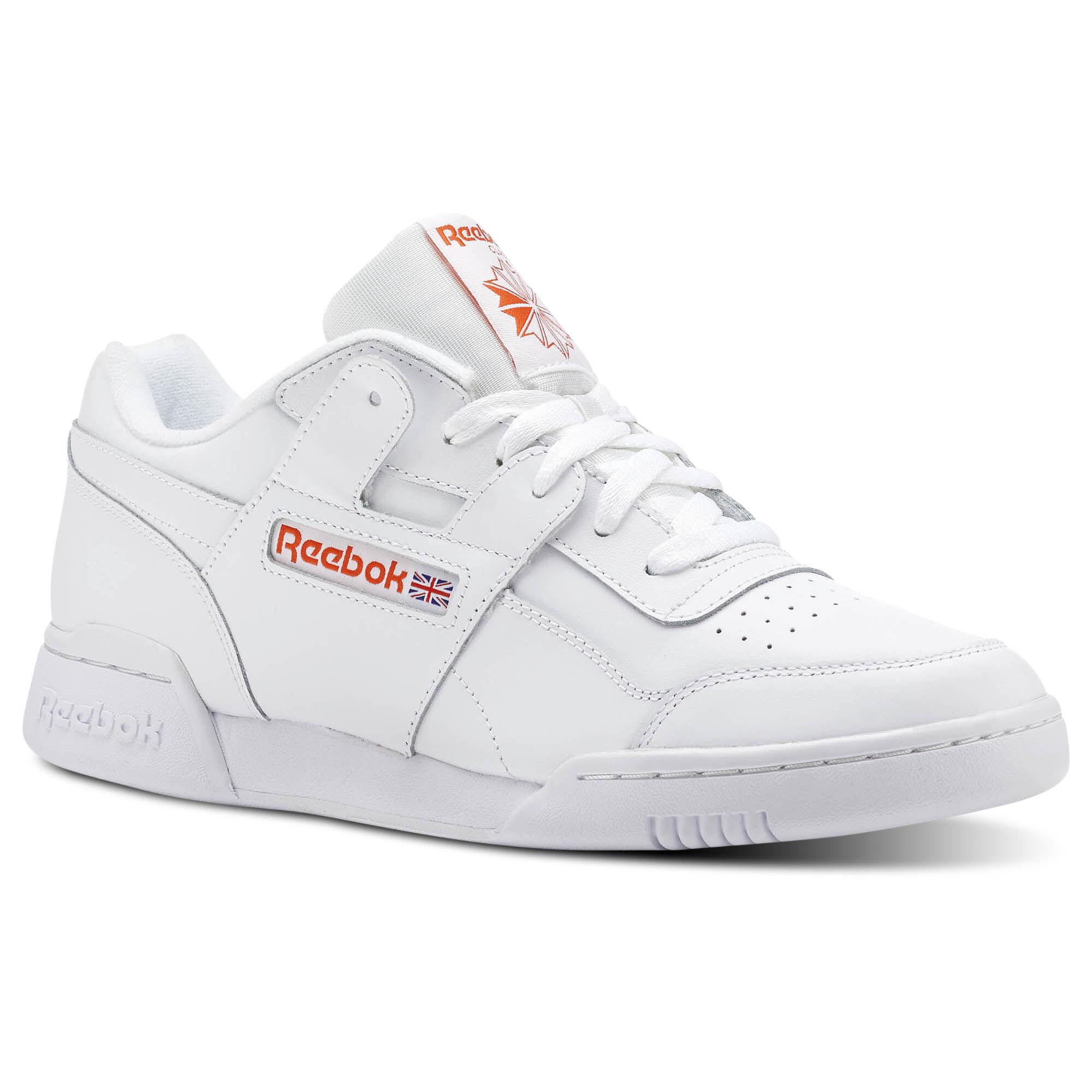 white workout plus MU leather sneakers Reebok KwXt5Y