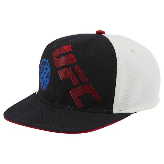 Reebok - UFC Ultimate Fan Flat Brim Snapback Hat Black/White/Blue BE6370