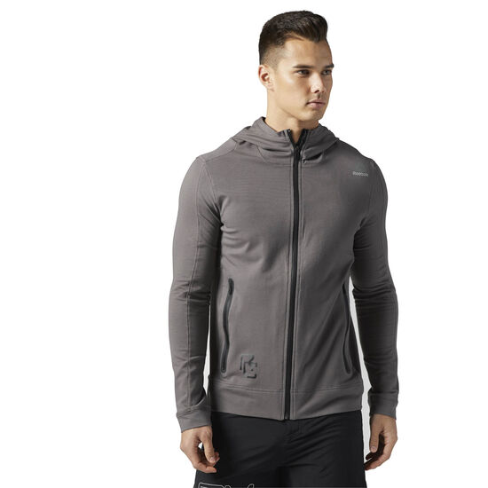 Reebok - Reebok Combat Tech Full Zip Hoodie Urban Grey BQ5803