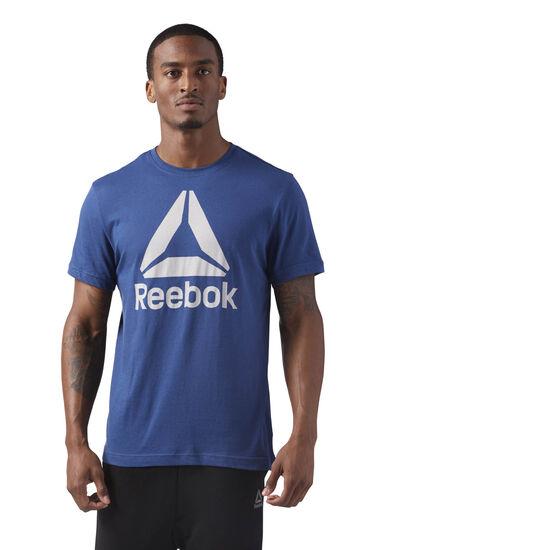 Reebok - Stacked Logo Tee Washed Blue CF3907