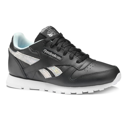 Reebok - CLASSIC LEATHER Ss-Black/Dreamy Blue/Tin Grey/Wht DV3615