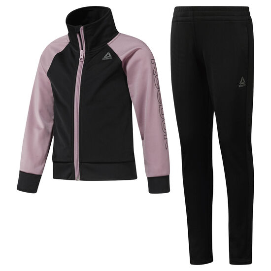 Reebok - Girls' Workout Ready Tricot Tracksuit Black / Infused Lilac DH4329