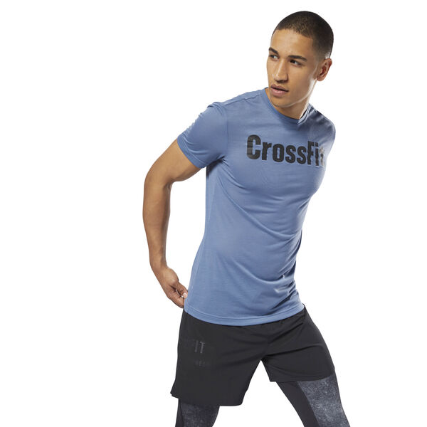 Reebok CrossFit Speedwick F.E.F. Graphic Tee Blue DH3703