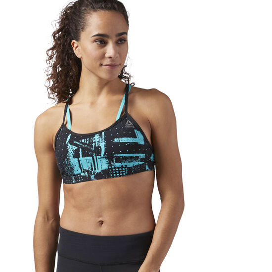 Reebok - Hero Strappy Bra Turquoise/Solid Teal CG1056