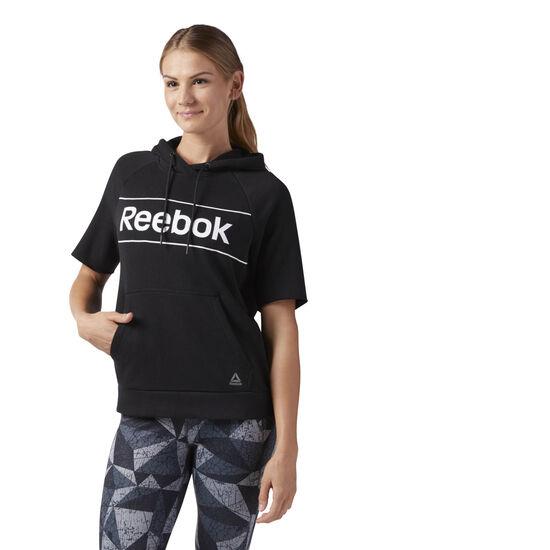 Reebok - Workout Ready Short Sleeve Hoodie Black CE4502