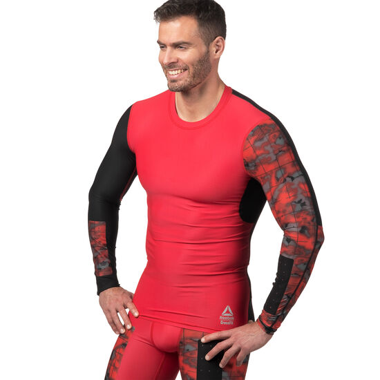 Reebok - Reebok CrossFit Compression Long Sleeve Tee Primal Red CD4498