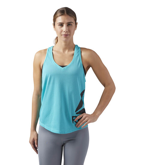 Reebok - Workout Ready Mesh Tank Turquoise/Solid Teal CE4425