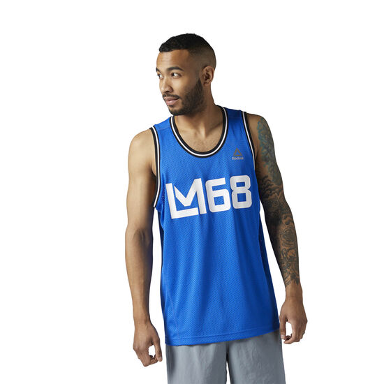 Reebok - LES MILLS Mesh Basketball Tank Vital Blue CE6709