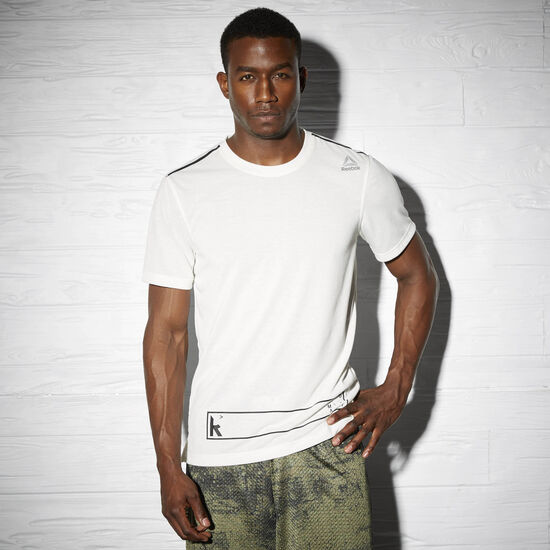 Reebok - Reebok Combat Training Short Sleeve Speedwick Tee Chalk AP6714