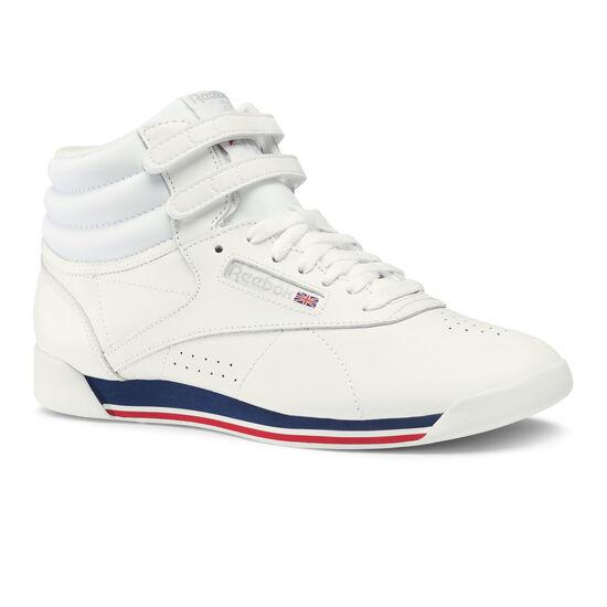 Reebok - Freestyle Hi Retro-White/Bunker Blue/Primal Red/Skull Grey CN2964