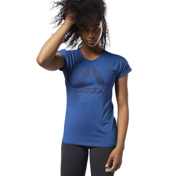 ACTIVCHILL Graphic Tee Blue CY2355