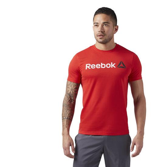 Reebok - Reebok Linear Read Tee Motor Red CW5377